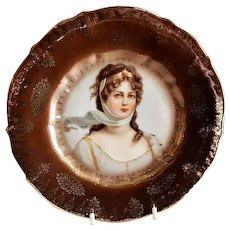 Queen Louise of Prussia Transfer Portrait Cabinet Plate