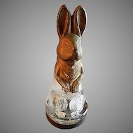 "Vintage ""Seated Mr. Rabbit"" Figural Glass Candy Container"