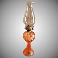 "Westmoreland Pink ""English Hobnail"" Pattern Oil Lamp"