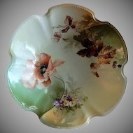 R.S. Germany (Green Mark) Serving Bowl w/Floral & Fruit Decoration
