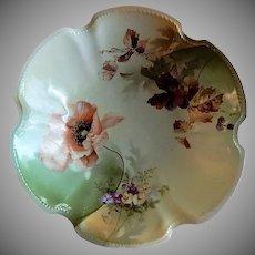 R.S. Germany (Green Mark) Serving Bowl w/Floral & Fruit Decoration
