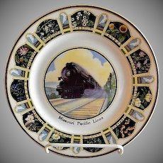 "Syracuse China - Missouri Pacific Railroad ""State Flowers"" Pattern Service Plate"