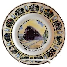 "Syracuse China - Missouri Pacific Railroad ""State Flowers"" Pattern Service Plate"