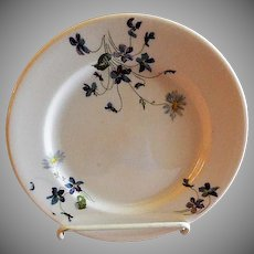 """Syracuse China - Chicago, Burlington & Quincy Railroad """"Violets & Daisies"""" Pattern Dinner Plate"""