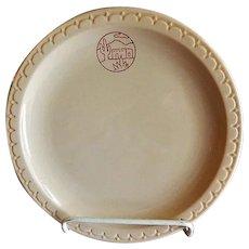 "Syracuse China - Atchison, Topeka & Santa Fe Railroad ""Adobe"" Pattern Dinner Plate"
