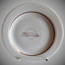 """Sterling China - Union Pacific Railroad """"Winged Streamliner"""" Pattern Dinner Plate"""