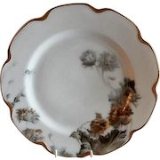 "Charles Haviland & Co. Feu de Four ""Flower & Seeds"" Pattern Dinner Plate - Schleiger #19 Blank"