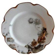 "Charles Haviland & Co. Feu de Four ""Flower & Seeds"" Pattern Dinner Plate - Schleiger #19 Blank"