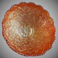 "Imperial Marigold Carnival ""Hattie"" Pattern Bowl"