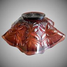 "Westmoreland Amethyst Carnival Glass ""Pillar & Sunburst"" Pattern Fluted Bowl"
