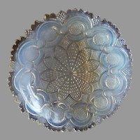 """Boston & Sandwich Opalescent Flint Glass """"Roman Rosette"""" Pattern Bowl"""