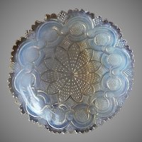 "Boston & Sandwich Opalescent Flint Glass ""Roman Rosette"" Pattern Bowl"