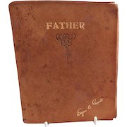 """Vintage """"Father"""" Book of Poetry by Edgar A. Guest, Copyright 1930"""
