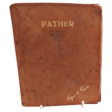 "Vintage ""Father"" Book of Poetry by Edgar A. Guest, Copyright 1930"