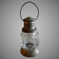 "Vintage ""Lantern"" Figural Glass Candy Container"