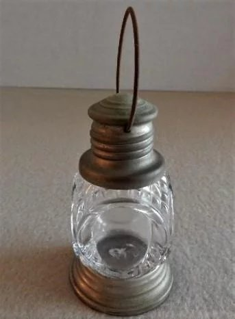 Vintage Quot Lantern Quot Figural Glass Candy Container Brys