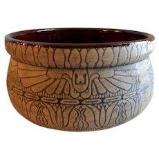 "Western Stoneware ""Egyptian"" Line Burntwood Design Bowl"