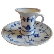 "Royal Copenhagen ""Blue Fluted"" Plain Chamber Candle Holder #2307"