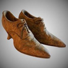 Vintage Pr. of Victorian Lady's Shoes - Stone-ware Garden Planters