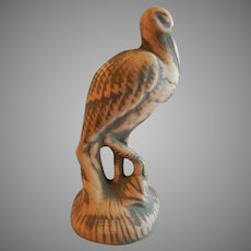"""Red Wing Union Stoneware Brushware """"Crane"""" Figural Statue - Unmarked"""
