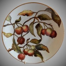 Charles Haviland & Co. Hand Painted Cabinet Plate w/Apples Motif - #1 of Set of 5 Plates