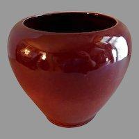 Broadmoor Art Pottery Oxblood Glaze Vase - Incised P. H. Genter