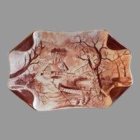 "Charles Haviland & Co. Hand Painted ""Scenic"" Motif Ice Cream/Serving Platter, Circa 1880's"