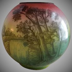 """""""Scenic"""" Transfer Motif Globe Shade for GWTW or Banquet Lamp"""
