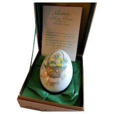 1974 Fourth Edition Noritake Easter Egg w/Easter Basket & Easter Eggs