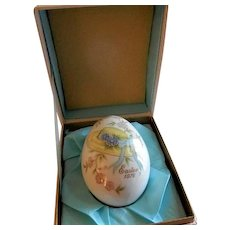 1976 Sixth Edition Noritake Easter Egg w/Easter Bonnet