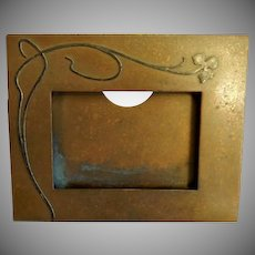 Heintz Art Metal Shop - Sterling Silver on Bronze - Desk Set Calendar Frame
