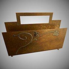 Heintz Art Metal Shop - Sterling Silver on Bronze - Desk Set Letter Holder