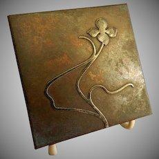 Heintz Art Metal Shop - Sterling Silver on Bronze - Desk Set Ink Well