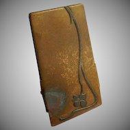 Heintz Art Metal Shop - Sterling Silver on Bronze - Desk Set Document Clip