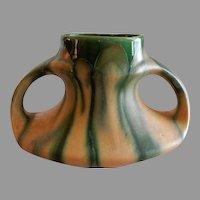 Belgium Faiencerie Thulin Art Deco Drip Glaze Vase