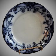 "A. J. Wilkinson - Royal Staffordshire Pottery - Flow Blue ""Iris"" Pattern Small Serving Bowl"