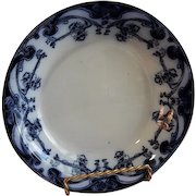 "A. J. Wilkinson - Royal Staffordshire Pottery - Flow Blue ""Iris"" Pattern Small Serving Bowl"