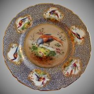 "Royal Doulton ""Bird of Paradise"" Motif Plate (1 of 6) - E Percy/Robert Allen"