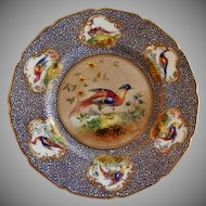 """Royal Doulton """"Bird of Paradise"""" Motif Plate (6 of 6) - E Percy/Robert Allen"""