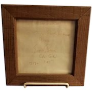 "Framed Original Personalized ""Ernie Banks"" Autograph - Dated 7/20 1977"