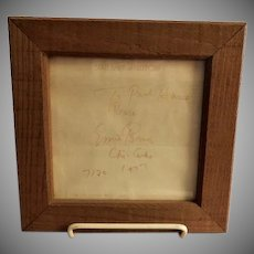 """Framed Original Personalized """"Ernie Banks"""" Autograph - Dated 7/20 1977"""