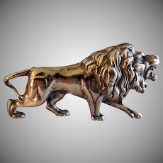 "Alexander Korda Figural ""Roaring Lion"" Brooch (Jungle Book 1940's)"