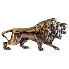 "Alexander Korda Figural ""Roaring Lion"" Brooch (Jungle Book 1940's)"