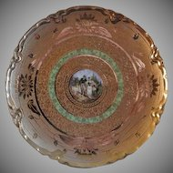 Osborne Studio Cabinet Plate w/Scenic Cameo and Etched AOG Decoration