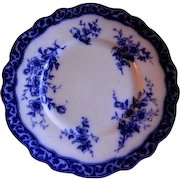 """Henry Alcock & Co """"Touraine"""" Pattern Flow Blue Luncheon Plate"""