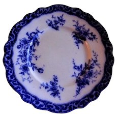 "Henry Alcock & Co ""Touraine"" Pattern Flow Blue Luncheon Plate"