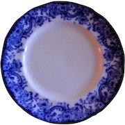 "Royal Doulton Burslem ""Melrose"" Pattern Flow Blue Luncheon Plate"