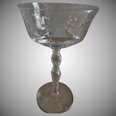 "Libbey/Rock Sharpe ""Salon"" Pattern Clear Cut Champagne/Sherbets - Set of 6"