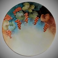 D'Arcy Studio Hand Painted Cabinet Plate w/ Ripe Gooseberries Motif - Artist Signed