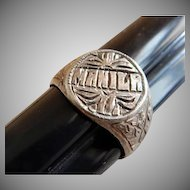 Vintage WWII Manila PI Trench Art Ring